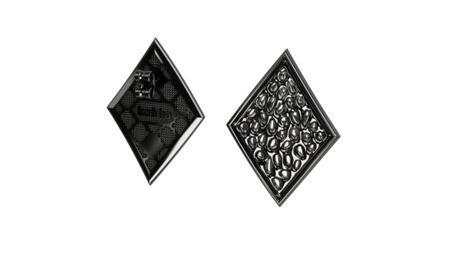 Kolczyki srebrne Vesuvio Black