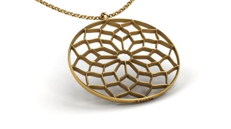 Naszyjnik pozłacany Chartres Gold