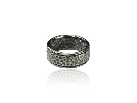 Obrączka srebrna Vesuvio Black