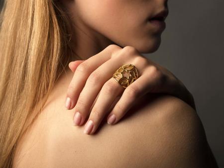 Pierścionek pozłacany Yorkshire Gold