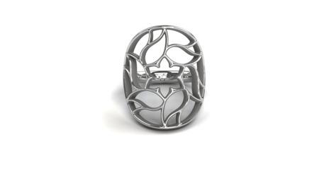 Pierścionek srebrny Milano White